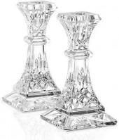 "Waterford Gifts, Lismore Candle Holders 6"", Set of 2"