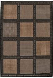 "Couristan Area Rug, Recife Indoor/Outdoor Summit/Cocoa-Black 1043/2500 5'3"" x 7'6"""