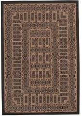 "Couristan Area Rug, Recife Indoor/Outdoor Tamworth/Cocoa-Black 1017/2500 3'9"" x 5'5"""