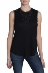 Haute Hippie Muscle Top Black