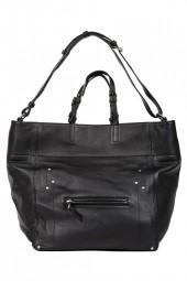 JEROME DREYFUSS Jacques Bag Black/Blue Caviar