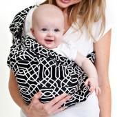 Dr. Sears Adjustable Sling by Balboa Baby® - Black/White