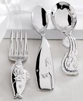 Reed & Barton Reed & Barton Flatware, SeaTails 3 Piece Baby Flatware Set