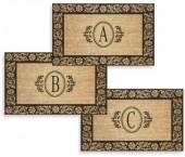 """Flower 38"""" x 60"""" Monogrammed Doormat"""