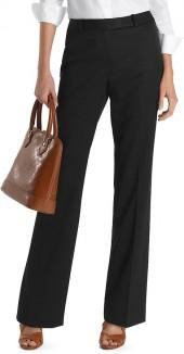 Plain-Front Caroline Fit Gabardine Dress Trousers