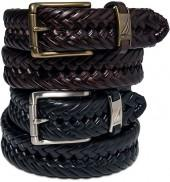 Nautica Leather Hand Braided Belt