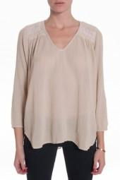 Current/Elliott Picnic Gauze Blouse Nude