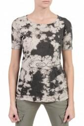 Raquel Allegra Short Sleeve Perfect Tee Black/White Marble