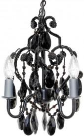 Sleeping partners 3-bulb mini chandelier - black