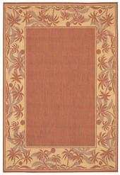 "Couristan Area Rug, Recife Indoor/Outdoor 1222/1122 Island Retreat Terra-Cotta-Natural 3' 9"" x 5' 5"""