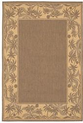 "Couristan Area Rug, Recife Indoor/Outdoor 1222/0722 Island Retreat Beige-Natural 5' 9"" x 9' 2"""