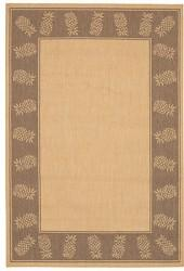 Couristan Area Rug, Recife Indoor/Outdoor 1177/3000 Tropics Natural-Cocoa 2' x 3' 7""