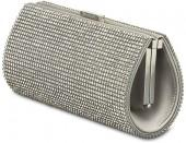 Power Silver Shade Evening Bag