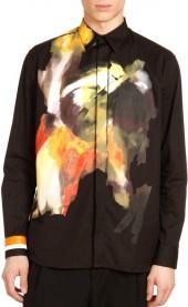 Givenchy Abstract-Print Dress Shirt, Black Multi