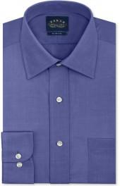 Eagle Non-Iron Slim-Fit Ink Blue Chambray Dress Shirt