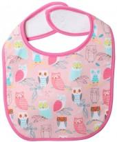 Zutano Wide Awake Bib (Baby) - Blush-One Size