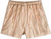 RED Valentino Metallic Leather Shorts