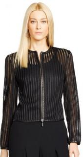 Ralph Lauren Black Label Lambskin-Trim Tracie Jacket