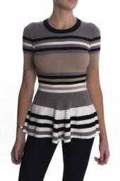Torn by Ronny Kobo Mercedes Top Neutral Stripes