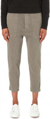 JAMES PERSE Cropped twill jogging bottoms