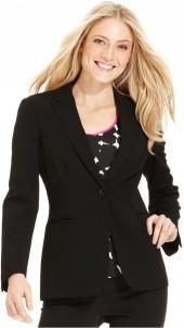 Calvin Klein Jacket, Single Button Stretch Suiting