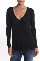 Bella Luxx Long Sleeve Twist Tee Black