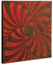 "Howard Elliott ""Textured Red & Black"" Wall Panel"
