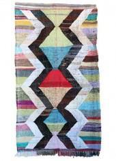 "Moroccan Kilim Boucherouite, 4'3"" x 8'6"" feet"