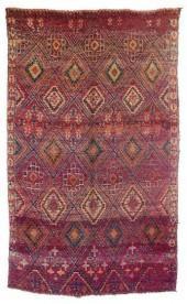 "Vintage Beni M'Guild Moroccan Berber Rug, 6'0"" x 9'6"" feet"