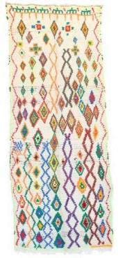 "Vintage Azilal Moroccan Berber Rug, 3'1"" x 8'0"" feet"