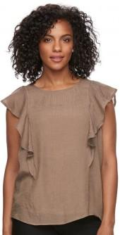 Women's Harve Benard Ruffled Top