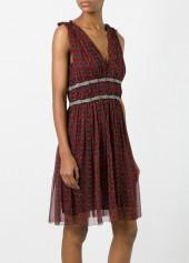 Isabel Marant Etoile Balzan Dress Burgundy