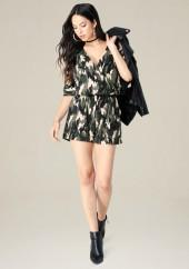 Camo Cold Shoulder Romper