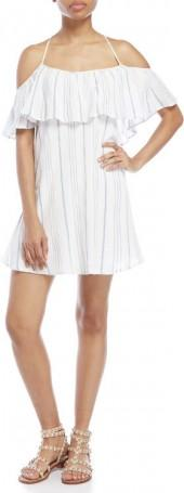 jessica simpson Luna Stripe Cold Shoulder Dress