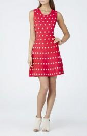 BCBGMAXAZRIA Jo Jacquard A-line Dress