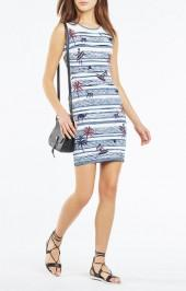 BCBGMAXAZRIA Jose Surf Knit Jacquard Dress