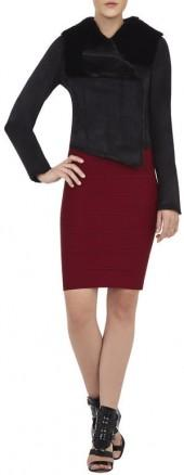 BCBGMAXAZRIA Clint Draped-Collar Jacket