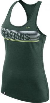 NIKE TEAM Women's Nike Michigan State Spartans College Dry Racerback Tank