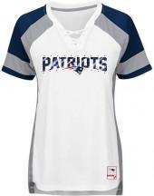 Majestic Women's New England Patriots NFL Draft Me Lace T-Shirt