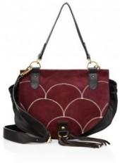 Collins Suede & Leather Saddle Bag