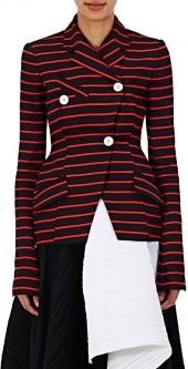 Proenza Schouler PROENZA SCHOULER WOMEN'S COTTON-WOOL STRIPED JACQUARD JACKET