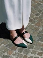 Mondrian Sandals Deep Green