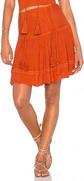 Jen's Pirate Booty Puma Mini Skirt in Burnt Orange