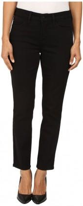 NYDJ Petite Petite Clarissa Skinny Ankle Jeans in Luxury Touch Denim in Black Garment Wash