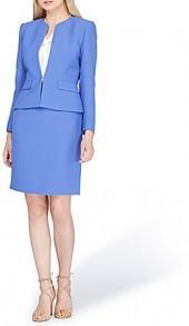 Tahari ASL Open Neckline Skirt Suit