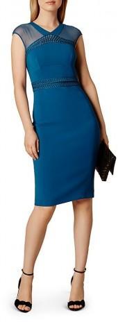 KAREN MILLEN Lace & Mesh Dress
