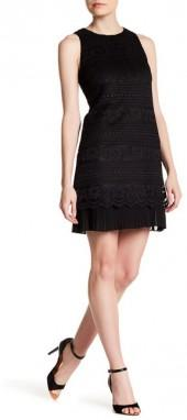 Cynthia Steffe Bianca Static Lace Pleat Detail Dress