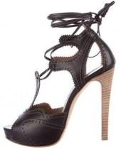 Hermès Ambre Leather Sandals