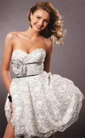 Blush - 9141 Lace Sweetheart A-line Dress