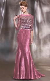 MNM Couture - 8850 Bejeweled Bateau Sheath Dress